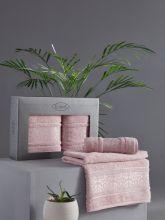 Комплект из 2-х бамбуковых полотенец ARMOND 50*90+70*140 (св.лаванда) Арт.3451-8