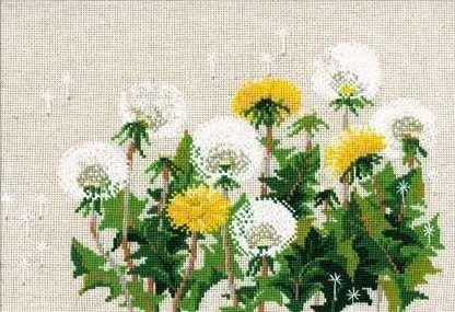 Набор для вышивания крестом Одуванчики №807 фирма Риолис