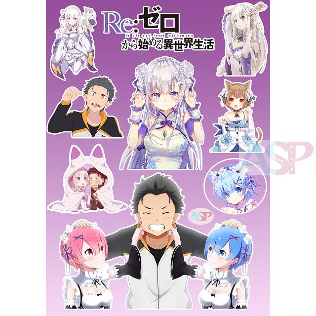 Стикеры Re Zero kara Hajimeru Isekai Seikatsu