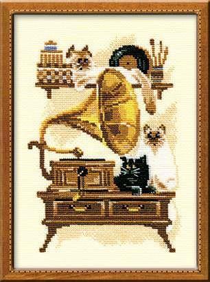 Набор для вышивания крестом Патефон №859 фирма Риолис