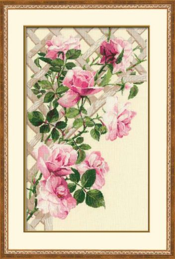 Набор для вышивания крестом Розовые розы №898 фирма Риолис