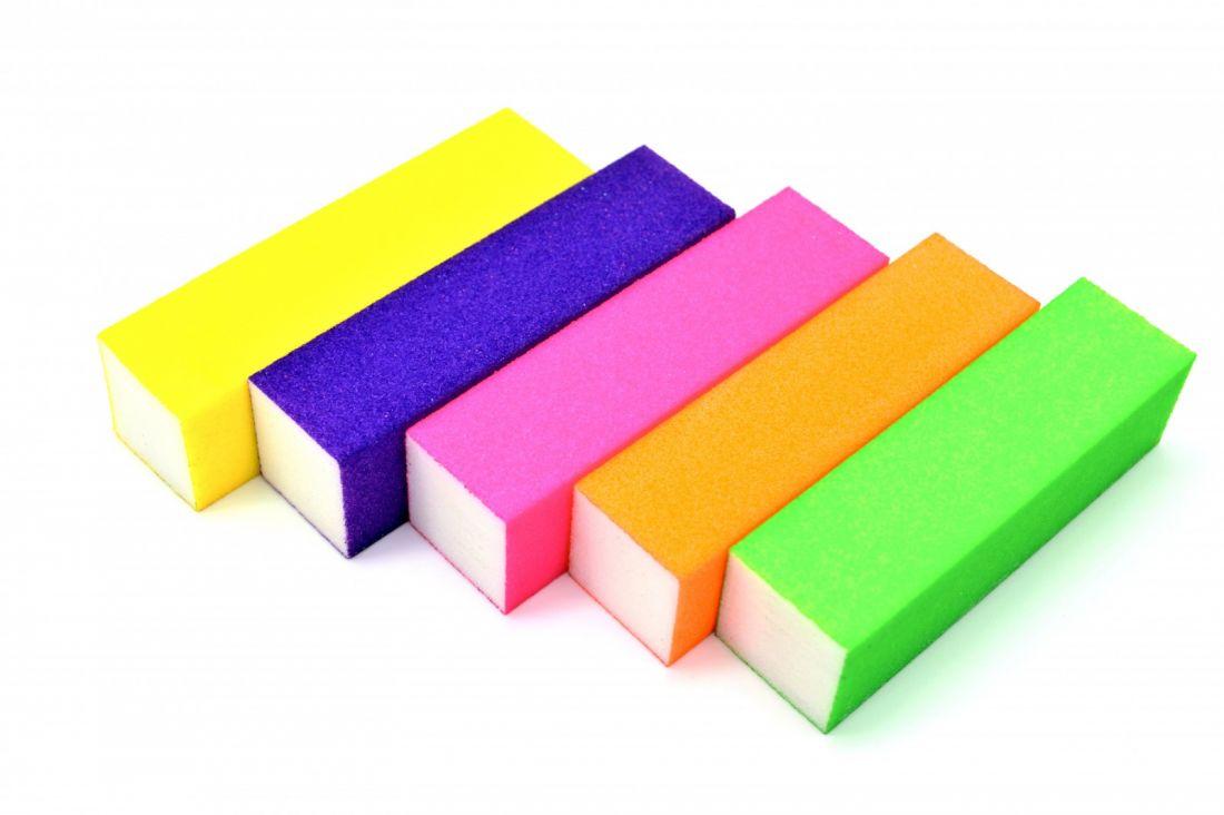 Блок шлифовочный (баф)  Цвет в ассортименте уп.10шт