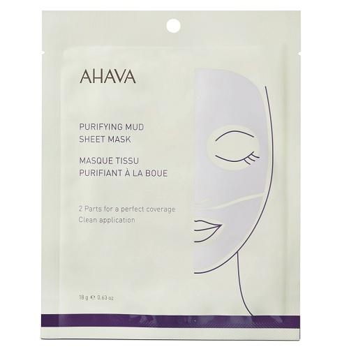 Ahava Mineral Mud Masks Очищающая грязевая тканевая маска для лица 1 шт.