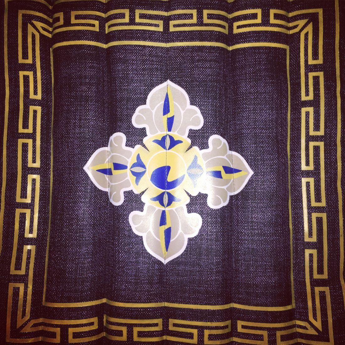 Тёмно-фиолетовая складная подушка для медитации (Москва)