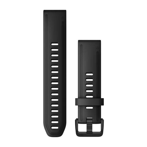 Ремешок сменный QuickFit 20мм силиконовый черный большого размера