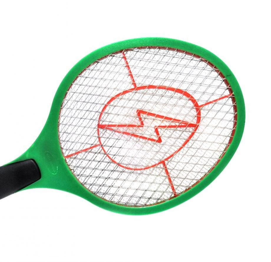 Электрическая мухобойка на батарейках, цвет Зеленый