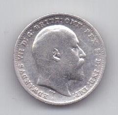 3 пенса 1904 года XF Редкий год Великобритания