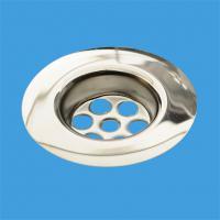 Решетка круглая (D85мм) сливная из полированной нержавейки для выпуска
