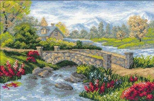 Набор для вышивания крестом Летний пейзаж №1078 фирма Риолис