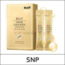 SNP Gold Collagen Sleeping Pack 20 ps
