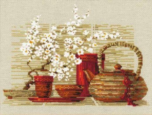 Набор для вышивания крестом Чай №1122 фирма Риолис