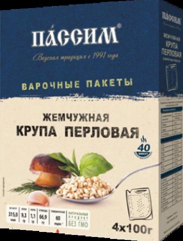 Крупа Пассим Перловая Жемчужная в/п (4*100г) 400г