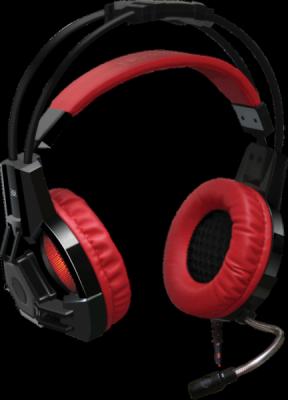 НОВИНКА. Игровая гарнитура Lester красный + черный, кабель 2,2 м
