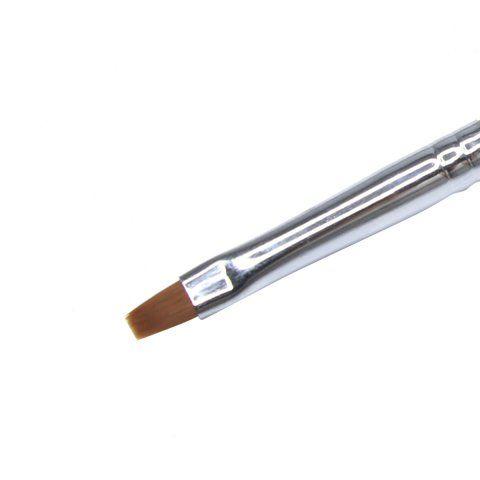 Кисть для геля Глобал Фэшн с деревянной ручкой №4 B22-4