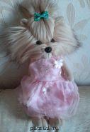 Платье розовое с цветами