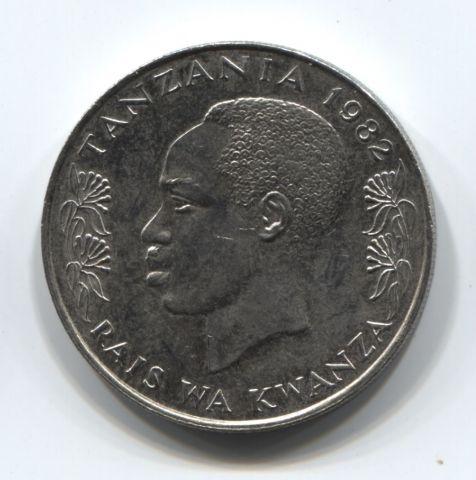 1 шиллинг 1982 года Танзания XF