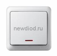 VIOLA Выключатель с подсветкой белый (12шт/144шт) Lezard