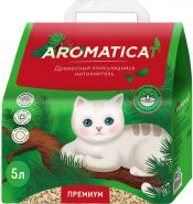 Aromaticat Наполнитель для кошачьего туалета древесный комкующийся, 10л