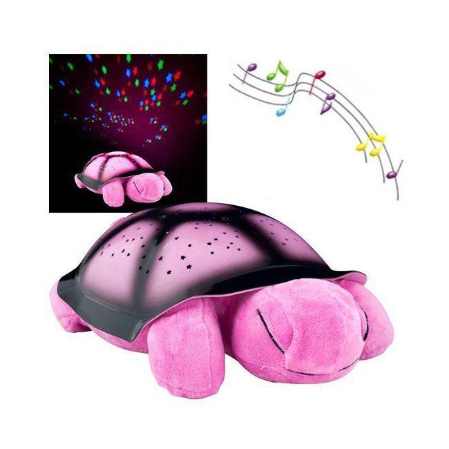 Ночник Черепаха (цвет розовый)