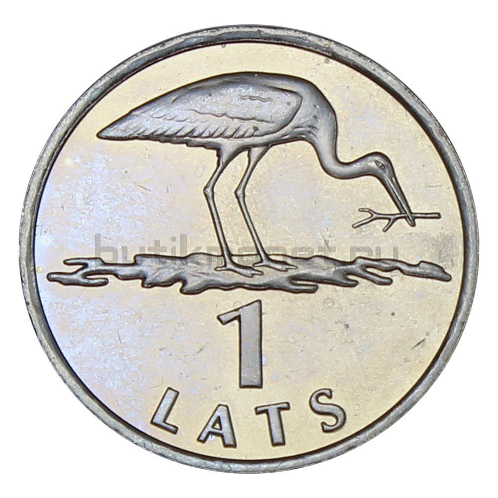 1 лат 2001 Латвия Аист