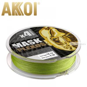 Леска плетеная Akkoi Mask Plexus X4 125 м / цвет: green