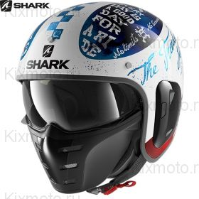 Шлем Shark S-Drak 2 Tripp In, Бело-черный