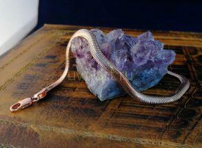 """Позолоченный браслет, плетение """"змейка"""", 5 мм (арт. 250217)"""