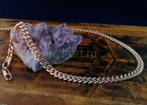 Позолоченная цепочка с имитацией алмазной гравировки, 5 мм (арт. 250224)