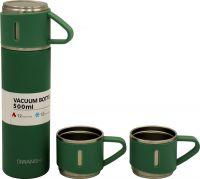 Подарочный набор Steel термос 500 мл и две кружки по 150 мл зелёный