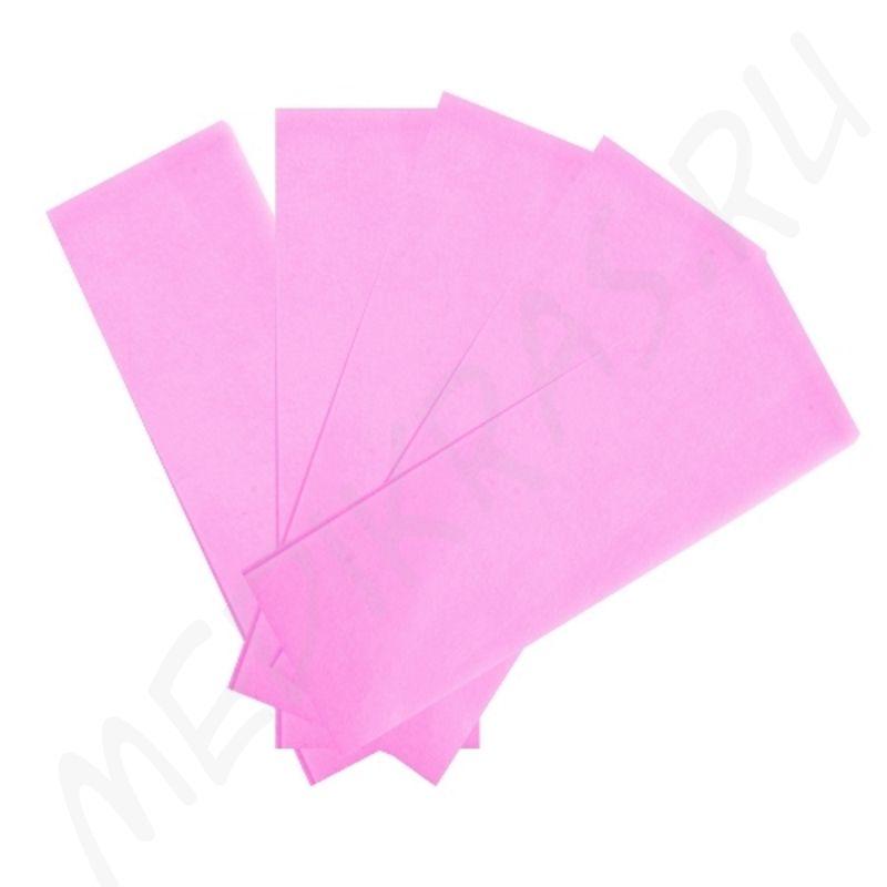 Полоски бумажные для депиляции розовые №100