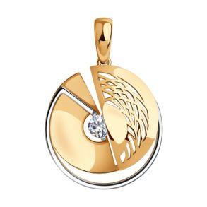 Подвеска из золота с фианитом 035917 SOKOLOV