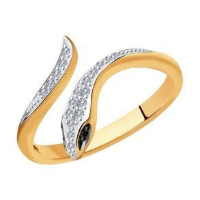 Кольцо из золота с бриллиантами 7010066 SOKOLOV