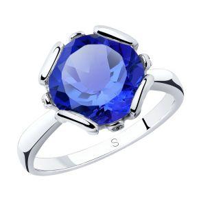Кольцо из серебра с ситаллом 92011762 SOKOLOV