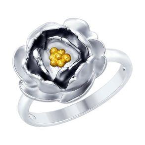 Кольцо из серебра с золочением 94012427 SOKOLOV