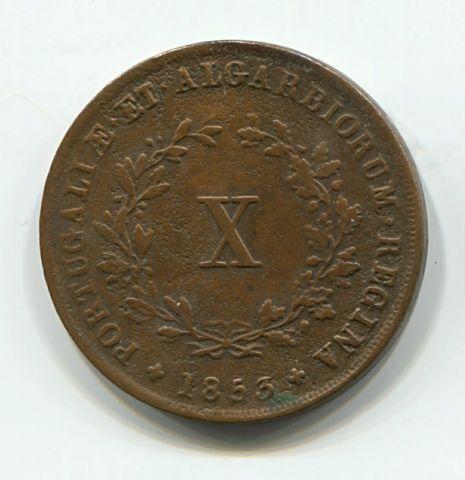10 рейс 1853 года Португалия, редкий год