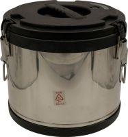Термобочка из нержавеющей стали Steel для еды и напитков 15 литров чёрная