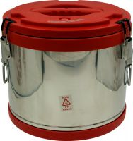 Термобочка из нержавеющей стали Steel для еды и напитков 15 литров красная