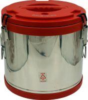 Термобочка из нержавеющей стали Steel для еды и напитков 17 литров красная