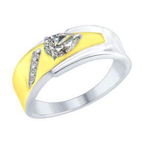 Кольцо из серебра с фианитами 94012384 SOKOLOV