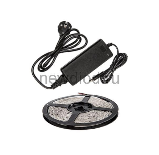 Набор светодиодная лента LS 50СW-60/33-5-AP 60LED 72Вт IP33 6000K холодный белый 5м, адаптер IN HOME