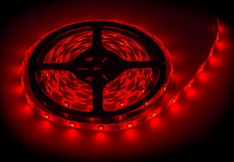 Лента светодиодная LS 50R-30/65 30LED 7.2Вт/м 12В IP65 красная IN HOME