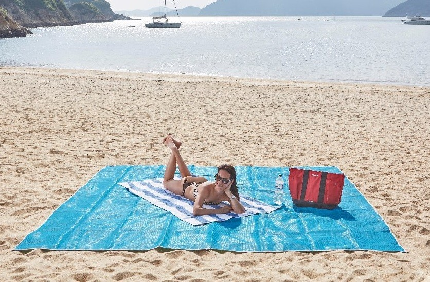 Пляжный коврик SAND FREE MAT, 200х150 см, цвет Розовый