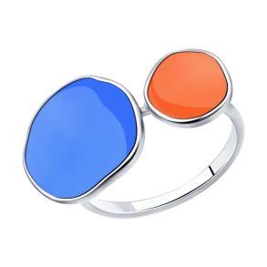 Кольцо из серебра с эмалью 94013128 SOKOLOV