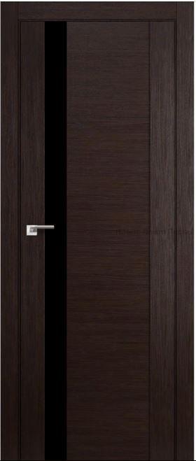 62Х венге мелинга Lacobel Черный лак  дверь PROFIL DOORS межкомнатная