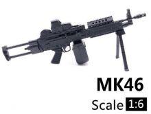 Сувенирная сборная модель пулемета mk-46 1:6