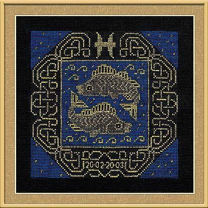 Набор для вышивания крестом Рыбы №1212 фирма Риолис