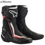 Мотоботы Alpinestars SMX Plus V2, Чёрно-бело-красные