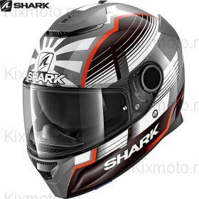 Шлем Shark Spartan 1.2 Zarco Malaysian, Черный с оранжевым