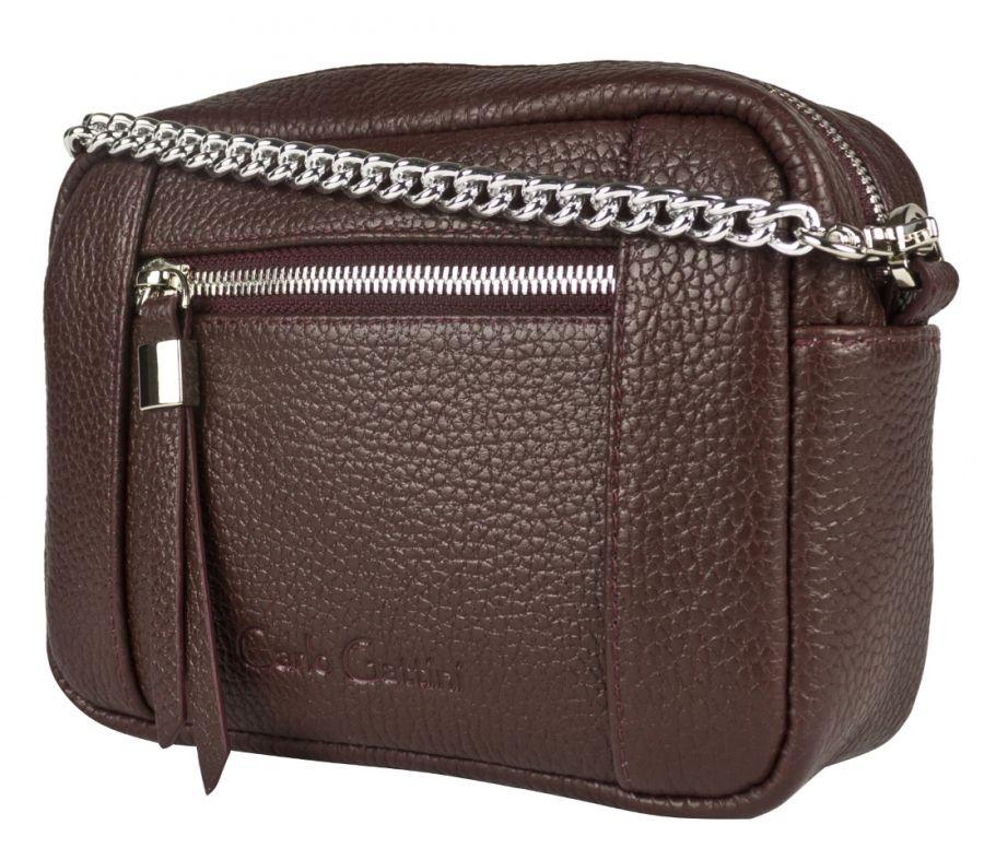 Кожаная сумка Carlo Gattini Pilati burgundy