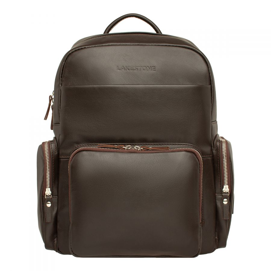 Кожаный рюкзак LAKESTONE Seddon Brown
